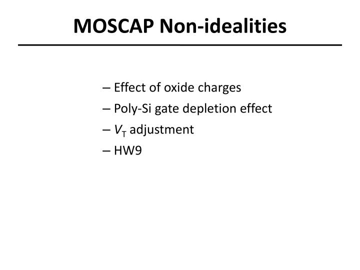 moscap non idealities