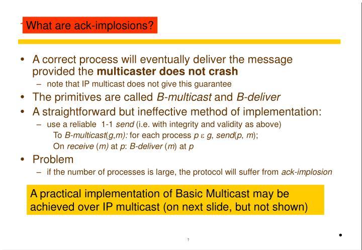 11.4.1 Basic multicast