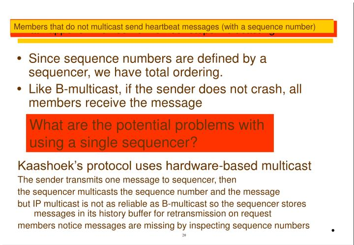 Discussion of sequencer protocol