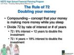 the rule of 72 doubling your money