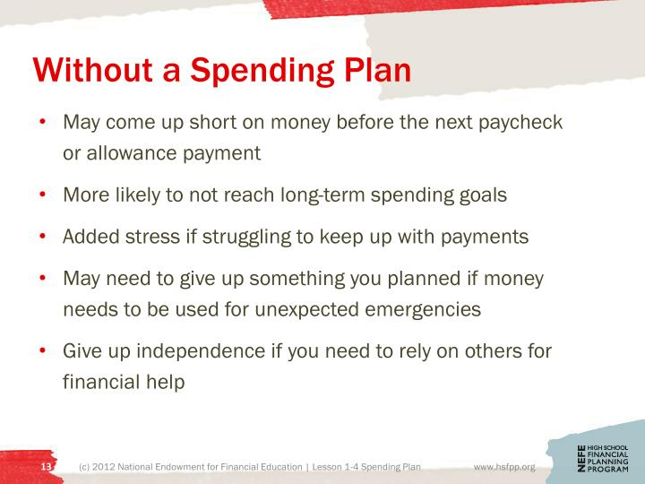 Without a Spending Plan