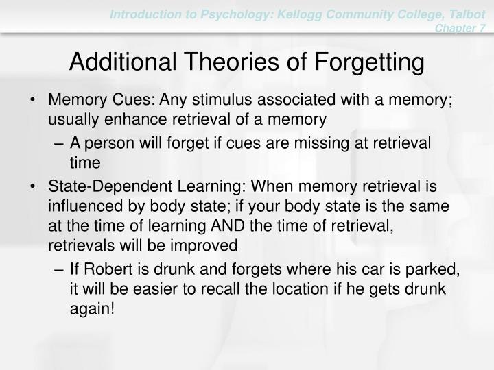 Additional Theories of Forgetting