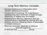 long term memory concepts