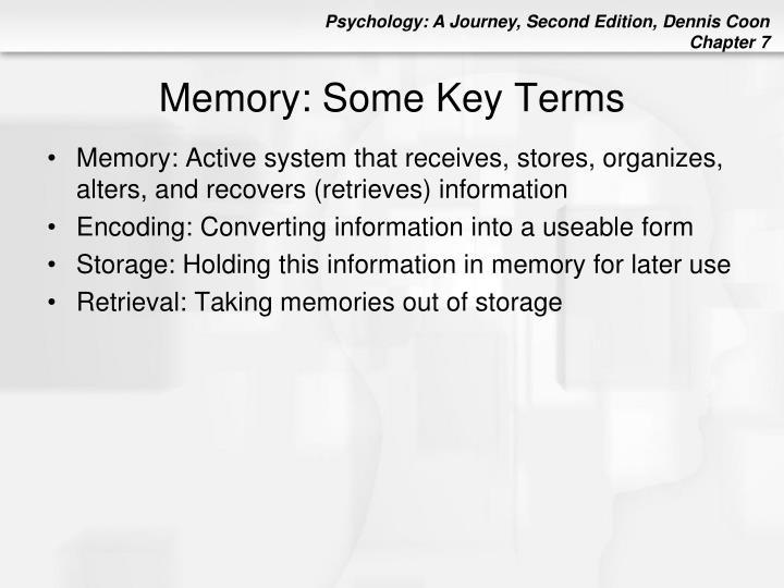 Memory: Some Key Terms