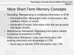 more short term memory concepts