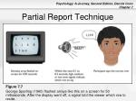 partial report technique
