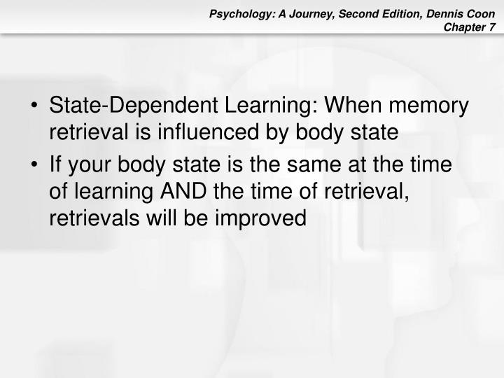 State-Dependent Learning: When memory retrieval is influenced by body state
