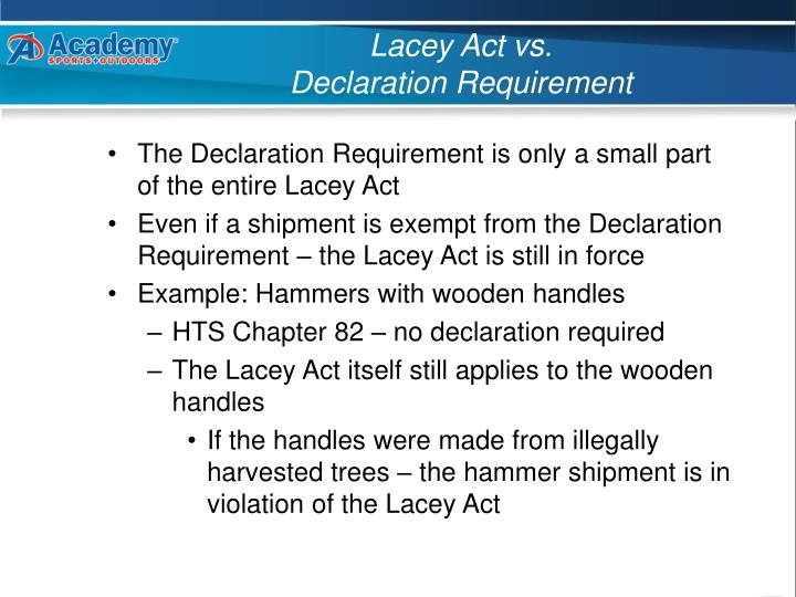 Lacey Act vs.