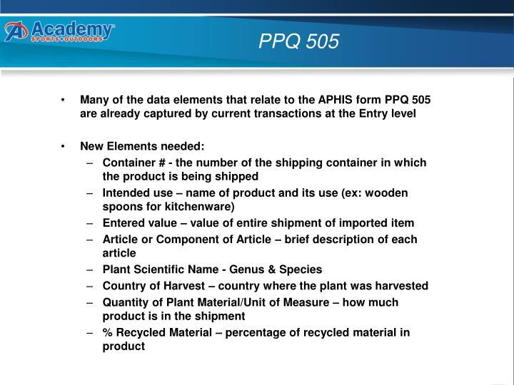 PPQ 505