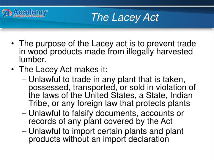 The lacey act1