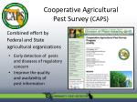 cooperative agricultural pest survey caps