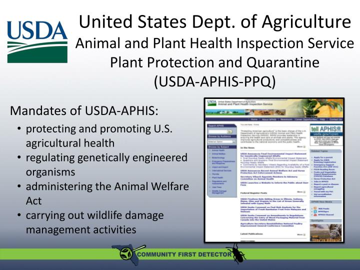 United States Dept. of Agriculture