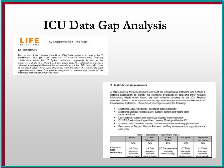 ICU Data Gap Analysis