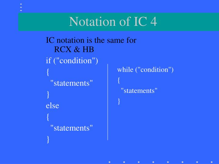 Notation of IC 4