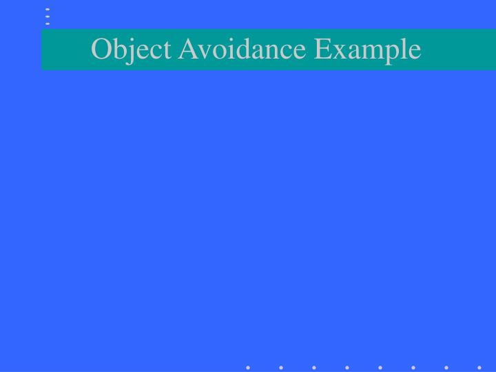 Object Avoidance Example