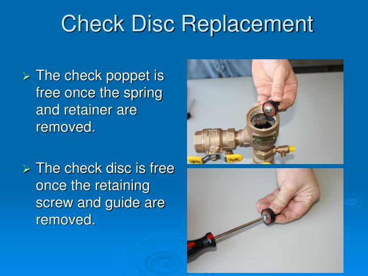 Check Disc Replacement