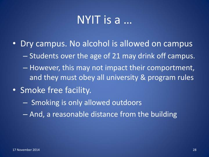 NYIT is a …