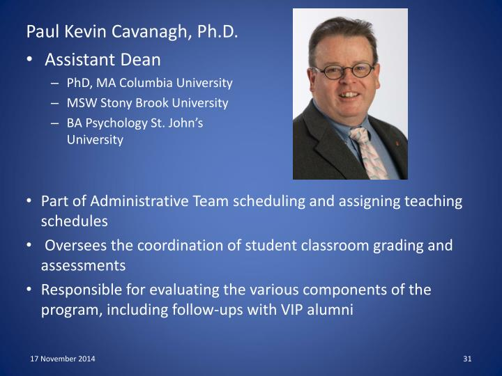 Paul Kevin Cavanagh, Ph.D.