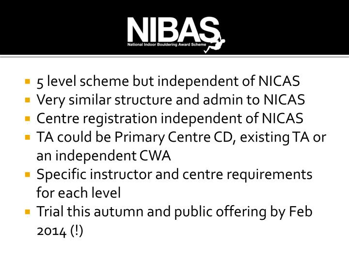 5 level scheme but independent of NICAS
