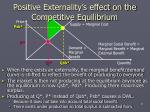 positive externality s effect on the competitive equilibrium