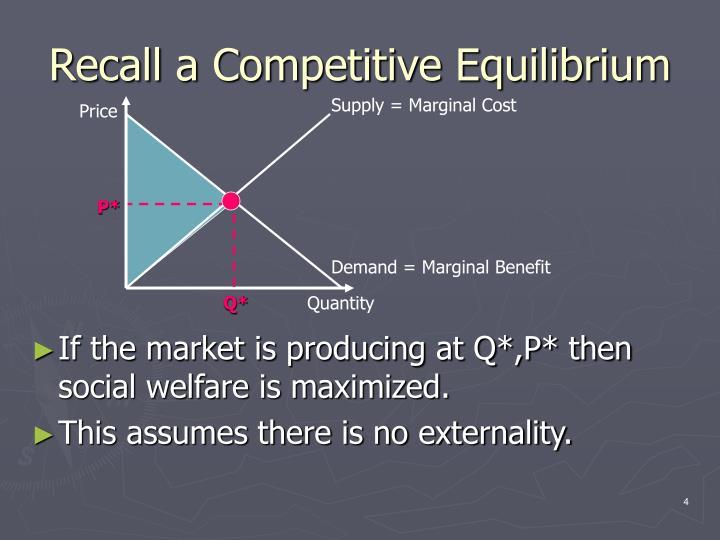 Recall a Competitive Equilibrium