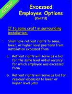 excessed employee options cont d