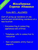 miscellaneous expense allowance