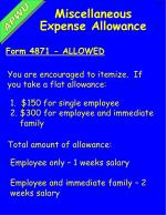 miscellaneous expense allowance3