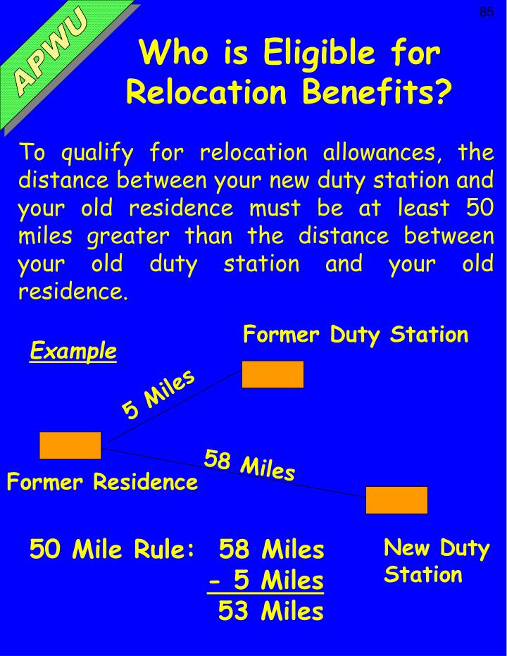 Who is Eligible for Relocation Benefits?