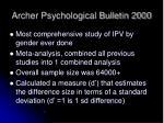 archer psychological bulletin 2000
