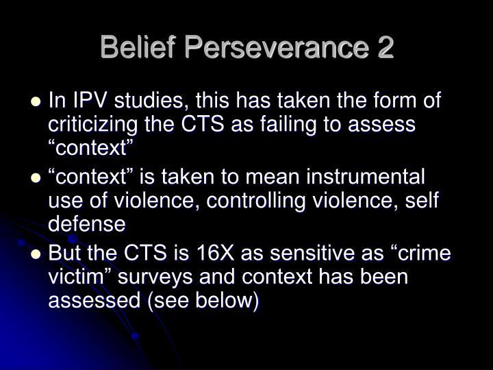 Belief Perseverance 2