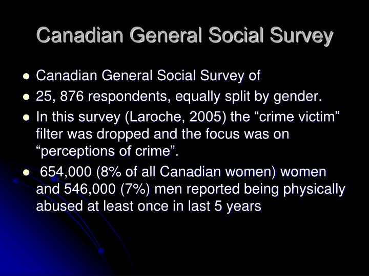 Canadian General Social Survey