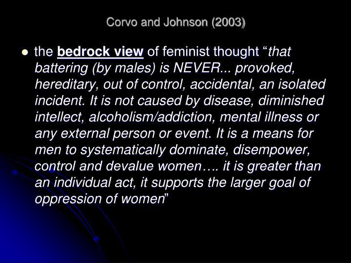 Corvo and Johnson (2003)