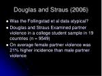 douglas and straus 2006