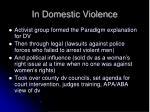 in domestic violence