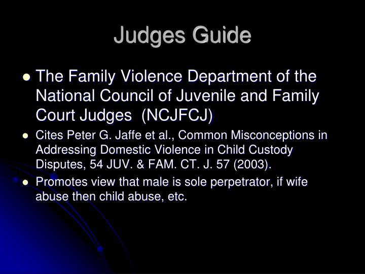 Judges Guide