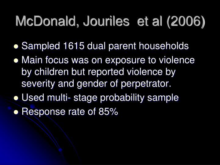 McDonald, Jouriles  et al (2006)
