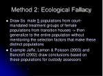method 2 ecological fallacy