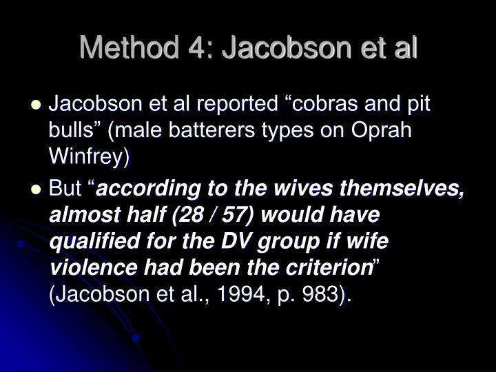 Method 4: Jacobson et al