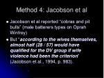 method 4 jacobson et al