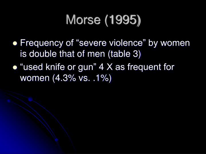 Morse (1995)
