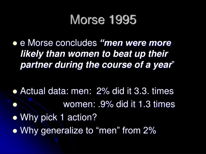 Morse 1995