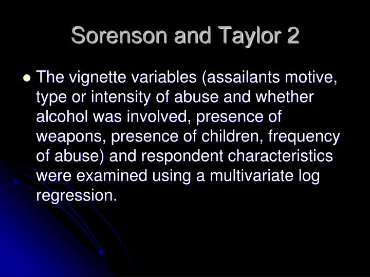 Sorenson and Taylor 2