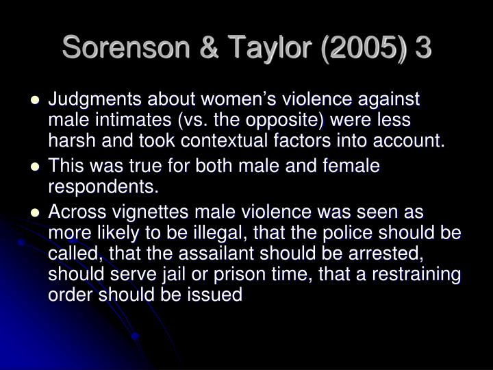 Sorenson & Taylor (2005) 3