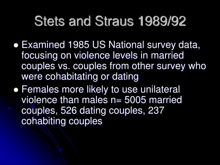 Stets and Straus 1989/92