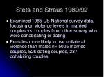 stets and straus 1989 92