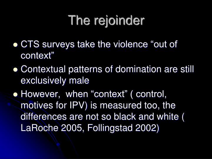The rejoinder