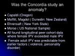 was the concordia study an anomaly