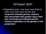 whittaker 2007