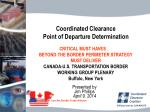 coordinated clearance point of departure determination